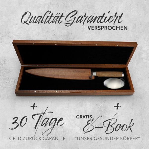 Damast Filetiermesser 245mm Box