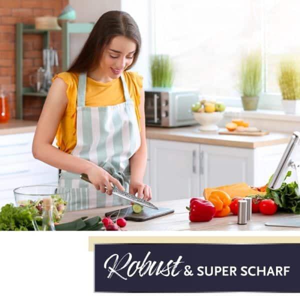 Damast Küchenmesser Bild 1