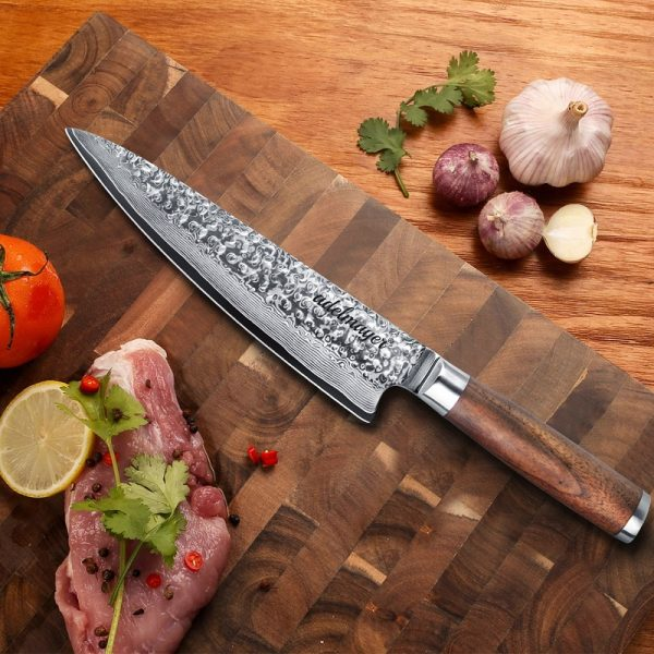 Damast Küchenmesser Bild
