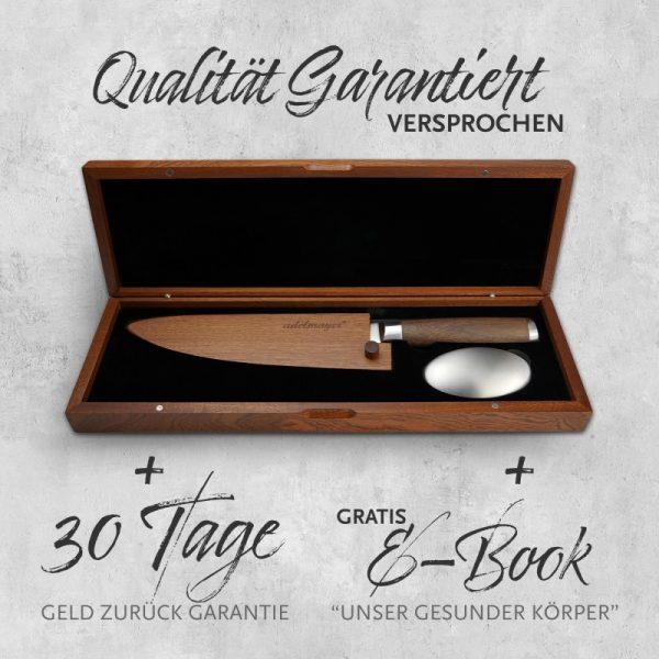 Damast Küchenmesser 20cm Box