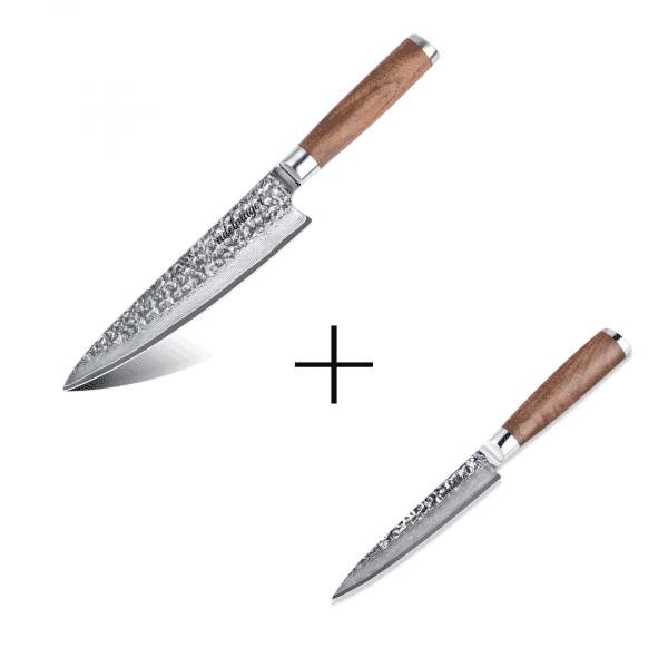Damastmesser-Küchenmesser-und-Allzweckmesser